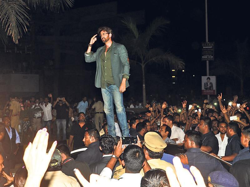 Hrithik Roshan was spotted at a public event after long, where he was seen interacting with fans.