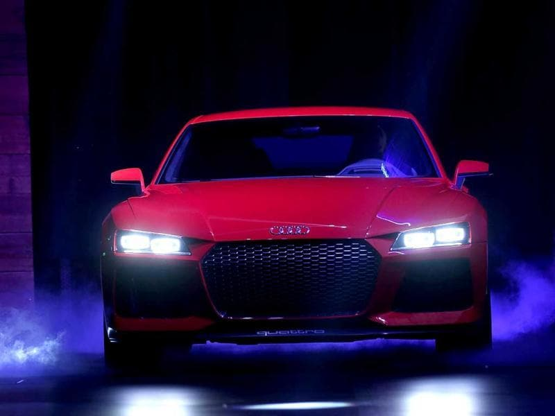 Audi unveiled 'Sport Quattro' a Laserlight Concept car at CES, the world's largest annual consumer technology trade show. AFP