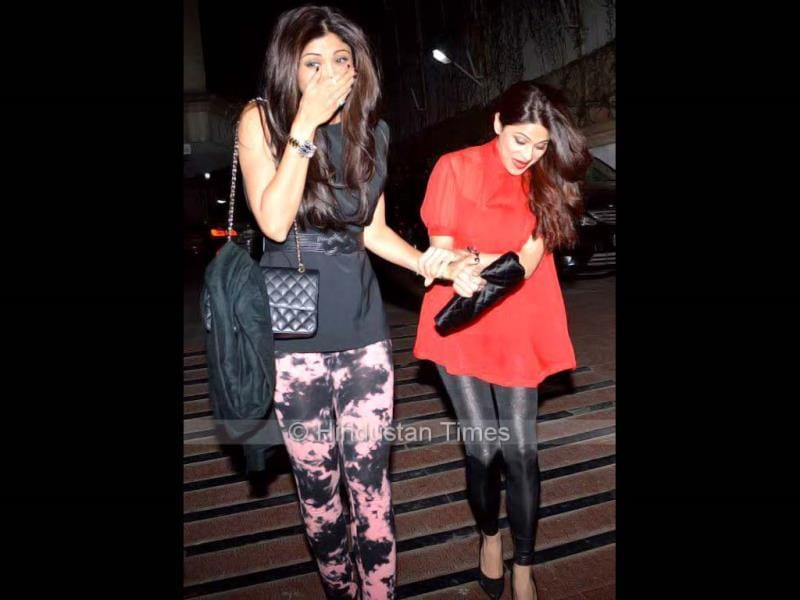 Looks like Shilpa and Shamita Shetty had real fun at Bipasha Basu's birthday party.