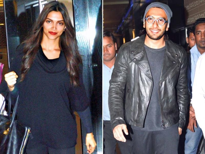Deepika Padukone and Ranveer Singh were spotted together at Mumbai airport.