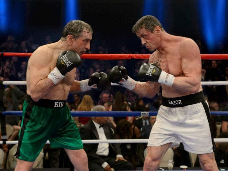 Sylvestor Stallone and Robert De Niro fight out a 30 year old grudge in their last match inside the boxing ring.