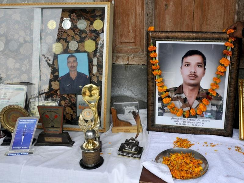 Subedar Dharmesh Sangwan, the second peacekeeper to be killed, was a rowing champion who had represented India in the Asiad games. Sushil Kumar/HT Photo