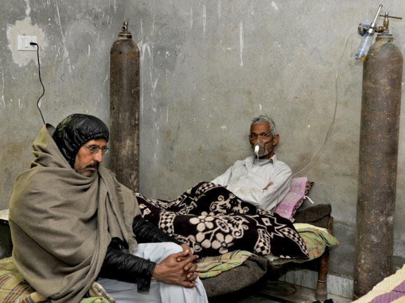 Sangwan's father is asthmatic and requires 24-hour care. Sushil Kumar/HT Photo