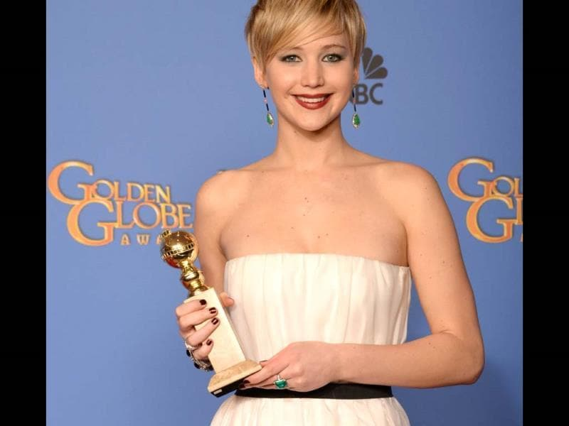 Jennifer Lawrence won the Golden Globe award for Best supporting actress for her performance in David O. Russell's con-artist caper American Hustle.