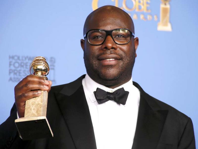Director Steve McQueen bags the Golden Globes award for Best Motion Picture, Drama for 12 Years A Slave.