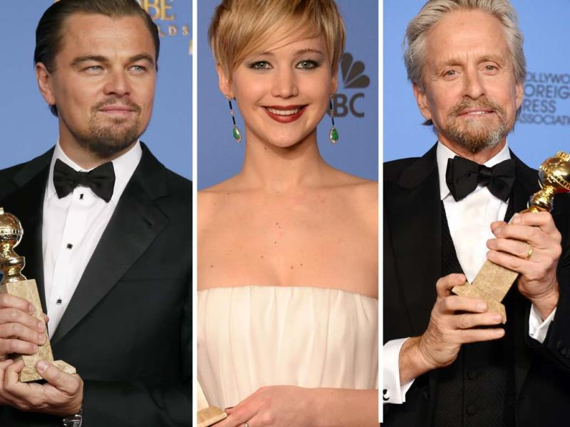 Jennifer Lawrence was announced the Golden Globe best supporting actress for her performance in American Hustle, while Leonardo DiCaprio won the best actor award for The Wolf of Wall Street. Michael Douglas won Golden Globe awards for his mini TV series Behind the Candelabra. Browse through for all Golden Globe winners.
