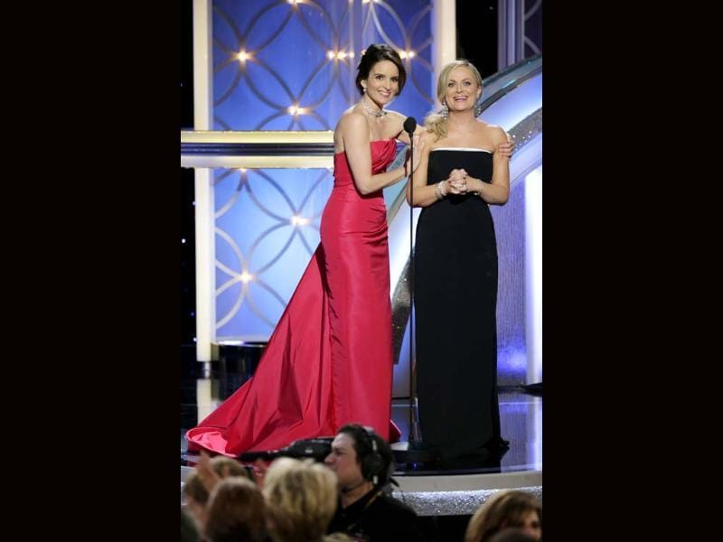 Hosts Tina Fey and Amy Poehler wore various dresses during the ceremony but mostly kept to red - like a lot of stars on Sunday. Their looks were as amazing as their one-liners in the show.