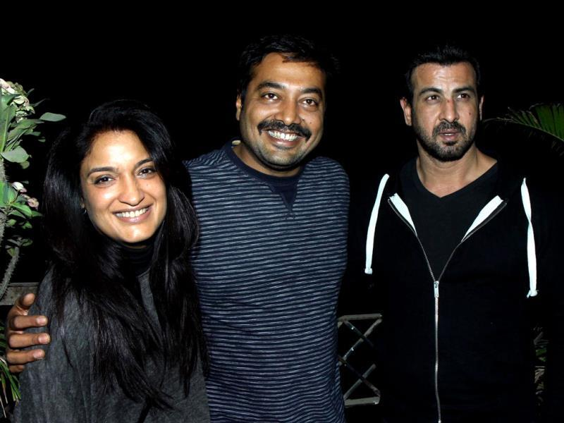 Bollywood actress Sandhya Mridul, director Anurag Kashyap and actor Ronit Roy at the screening. (AFP)