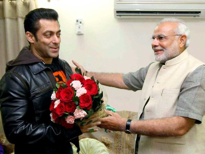 Dabangg star Salman Khan has grabbed headlines with his latest political avatar. After flying kites with Gujarat chief minister Narendra Modi during the Uttrayan festival in Ahmedabad, the actor even endorsed the BJO leader. Though he refused to take names when asked about the ideal prime ministerial candidate, the festival certainly made for interesting photo-op. Browse through.(PTI Photo)