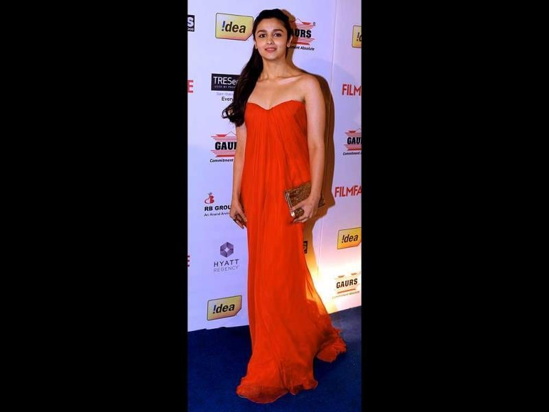 Alia Bhatt looks stunning in red.