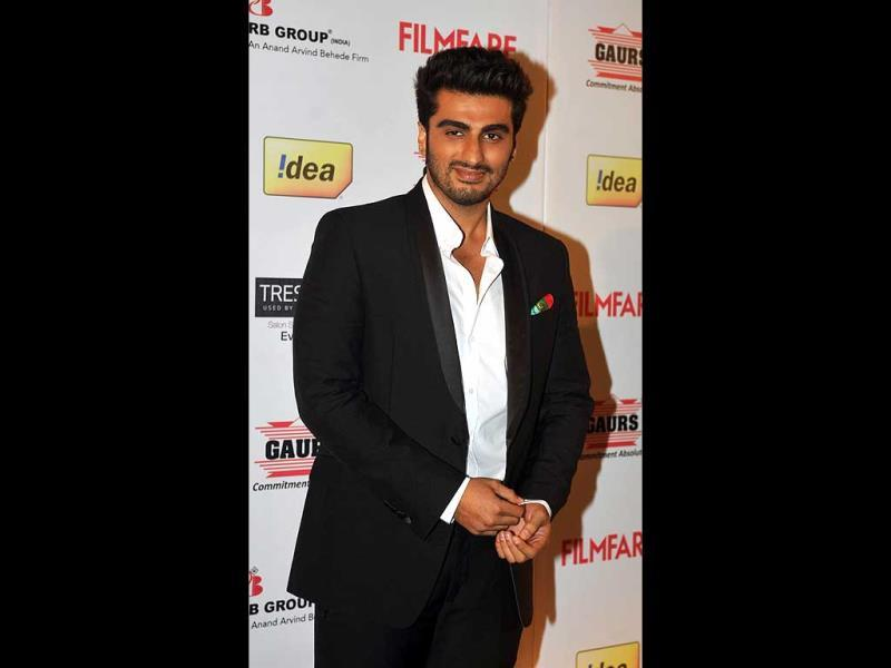 Arjun Kapoor poses for the shutterbugs.