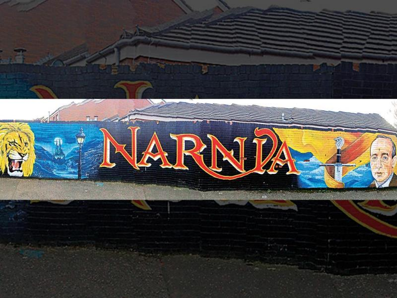 Belfast has literature in its DNA. Novelist CS Lewis, famous for all Narnia books, was born here. This mural is dedicated to The Chronicles of Narnia author. Text and Photo by Kalpana Sunder