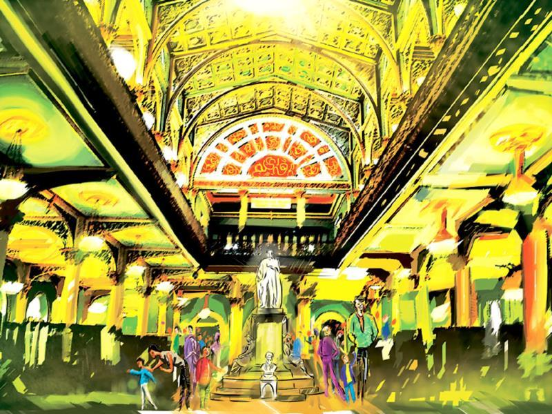 Dr Bhau Daji Lad Mumbai City Museum, a treasure trove of rare miniature paintings, objets d'art, maps and figurines. (Illustrations by Siddhant Jumde)