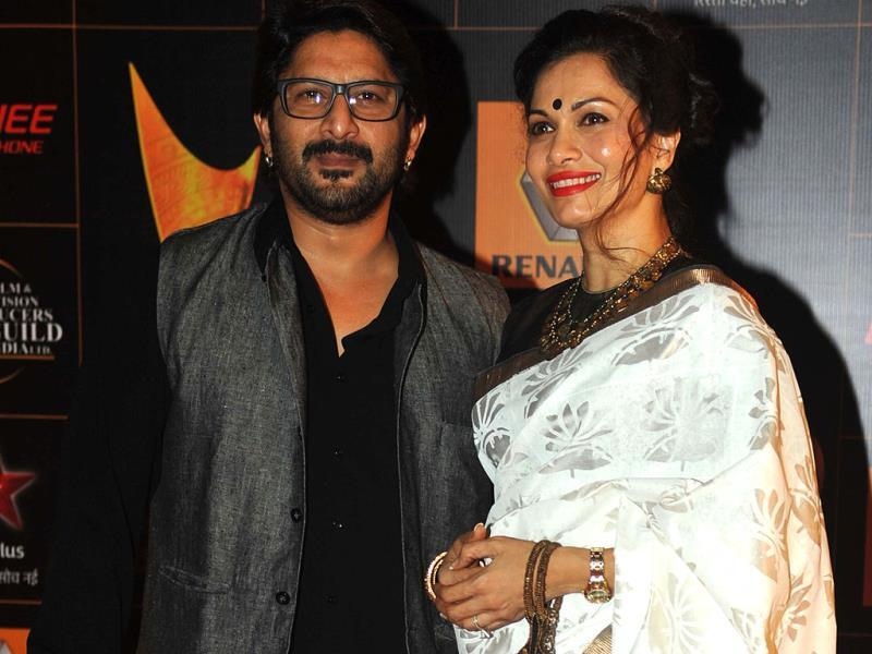 Arshad Warsi and his wife Maria Goretti. (AFP)
