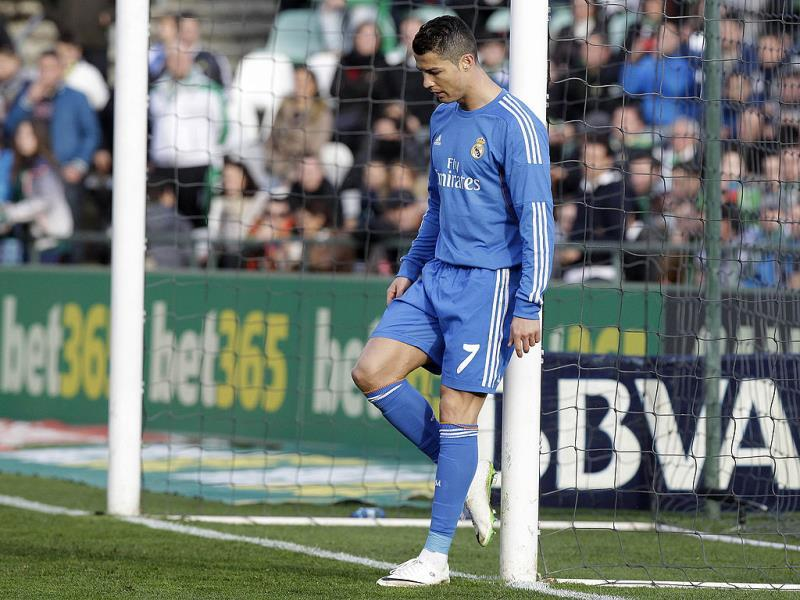 Real Madrid's Cristiano Ronaldo during the La Liga soccer match against Betis at the Benito Villamarin stadium, in Seville, Spain on Saturday. AP Photo