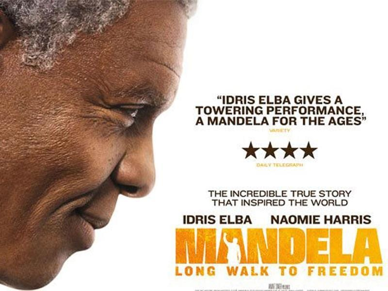 Mandela: Long Walk to Freedom official poster. It is biographical film on the late South African president directed by Justin Chadwick.