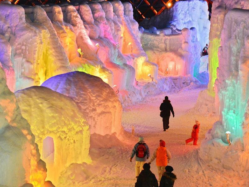 People at the annual ice festival that is on till February 16. (AFP)