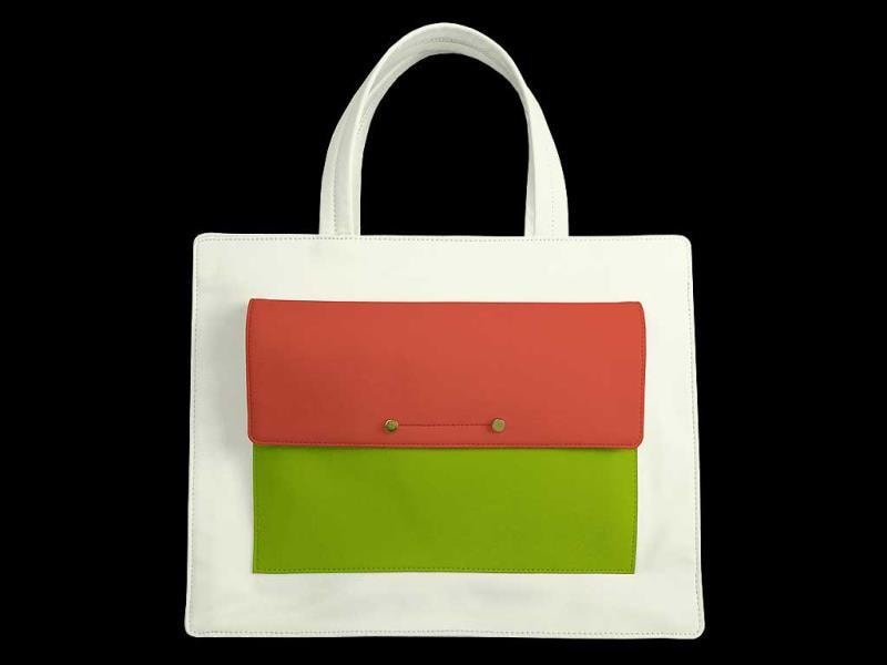 You can choose from its online library - there are totes, clutches, satchels and more.