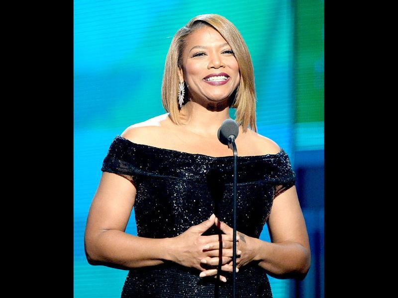 TV personality Queen Latifah speaks onstage during the awards.