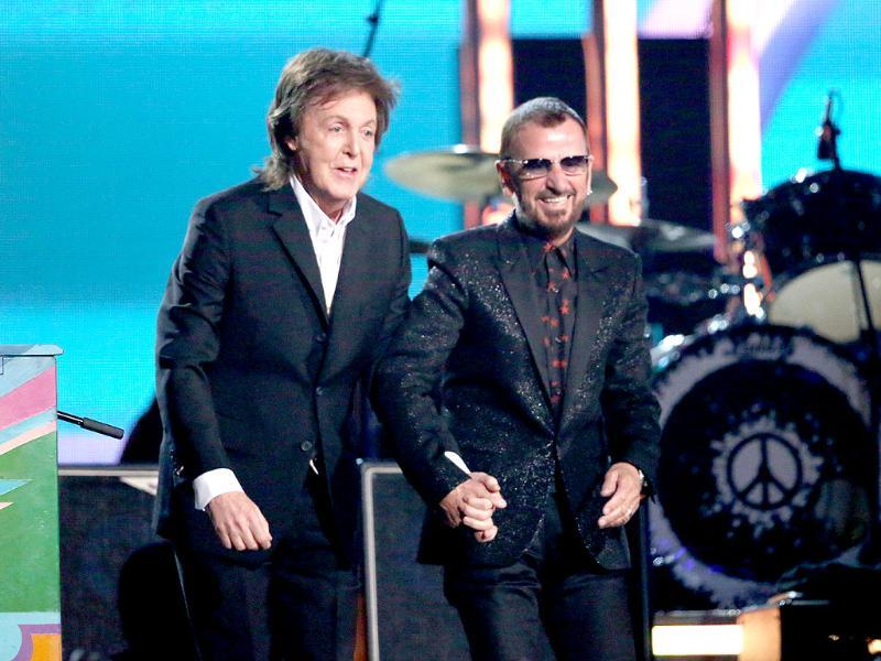 A rare collaboration between the two surviving Beatles, Paul McCartney and Ringo Starr.