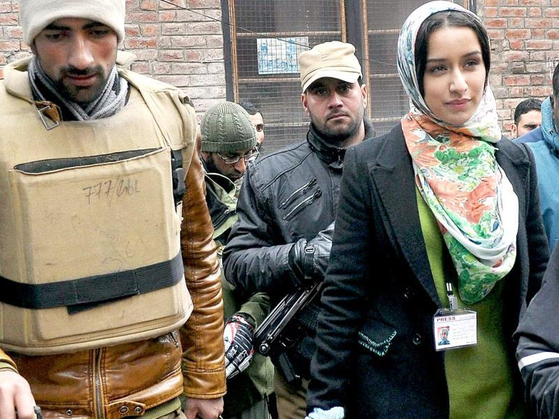 Shraddha Kapoor plays a press reporter in Haider.