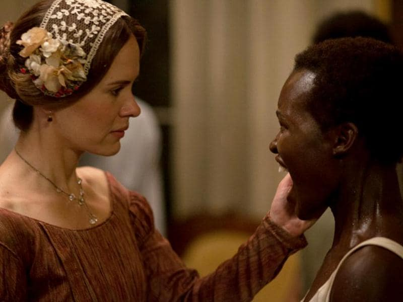 A shocking still with Sarah Paulson and Lupita Nyong'o.
