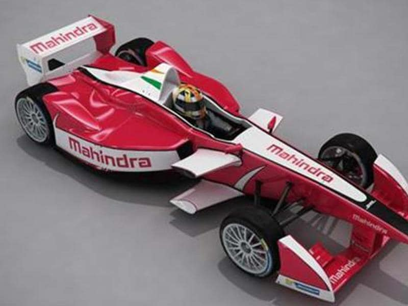 Mahindra will showcase its entrant to the Formula-e championship. It puts out 200kW(around 270bhp).