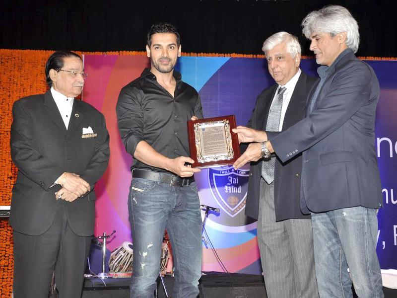 John Abraham during the alumni meet.