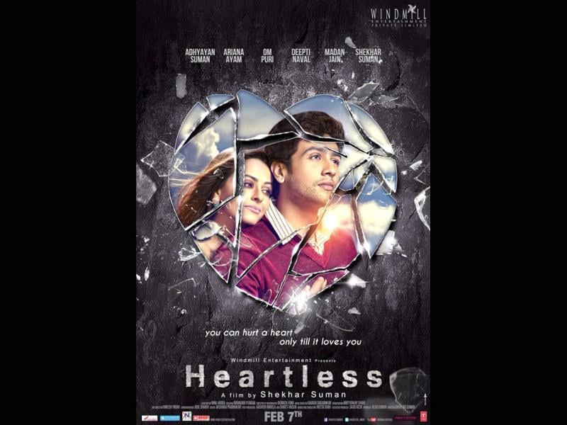 Adhyayan and Ariana in a poster from the film heartless. Hope the film doesn't break our heart.