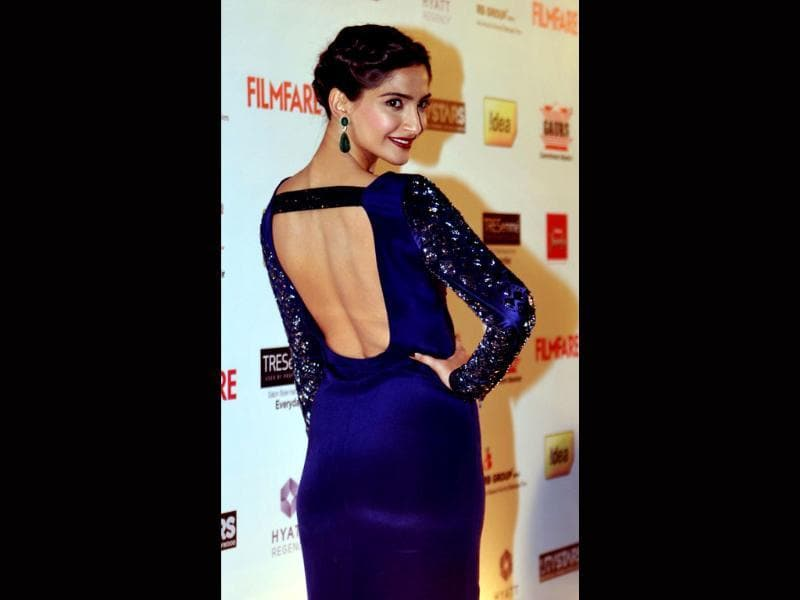 Sonam Kapoor rocks it in a blue gown at an award function in Mumbai recently. The ever-fashionable Kapoor is known for her style statments at public events.