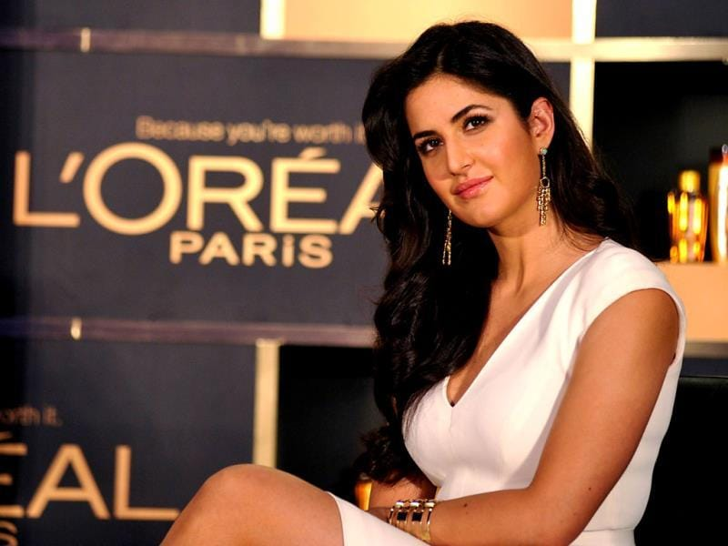 Katrina Kaif poses for shutterbugs. (AFP Photo)