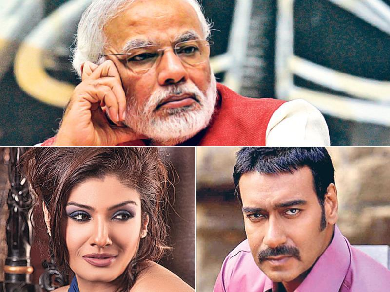 "Narendra Modi: The Gujarat chief minister follows several people from the film industry, including Raveena Tandon, Ajay Devgn, Preity Zinta, Akshay Kumar. ""It's an ­honour. I'm a huge fan of his. He's one of those few who can deliver his promises and believe in progress,"" says Tandon."