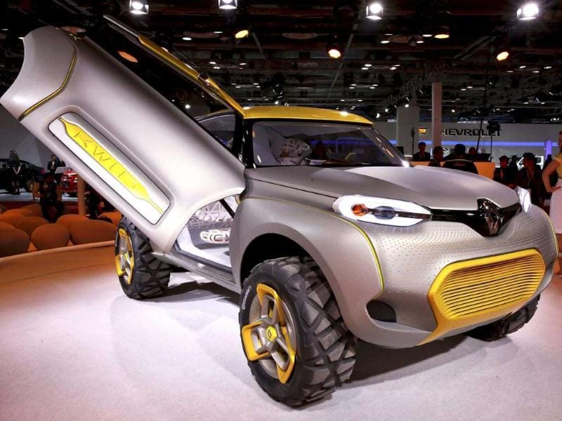 Renault concept SUV KWID is displayed at the 12th Auto Expo in Greater Noida. (PTI Photo)