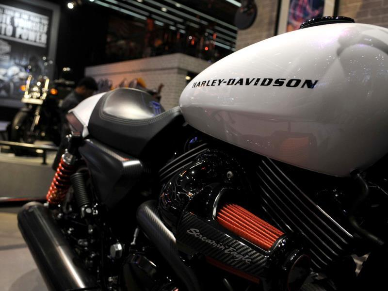 Harley-Davidson's Street 750 at the 12 Auto Expo in Greater Noida. (Burhaan Kinu/Hindustan Times)