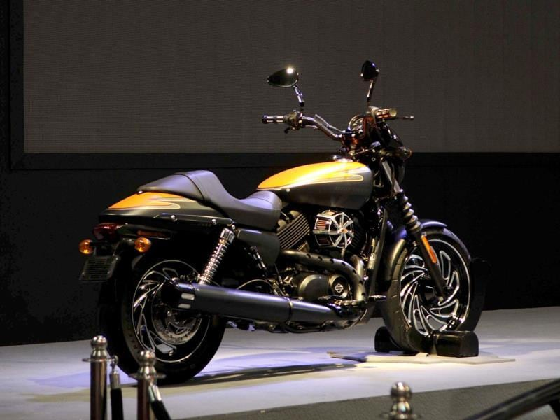 Harley-Davidson India launches the much awaited Street 750 at the 12 Auto Expo. (Burhaan Kinu/Hindustan Times)