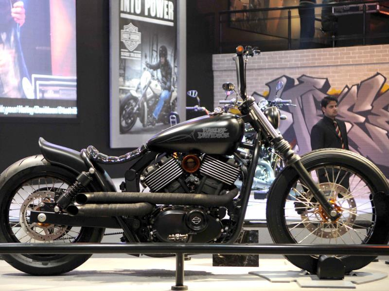 Harley-Davidson's Street 750 which will be available for booking on March 1 across 13 Harley-Davidson dealerships in India. (Burhaan Kinu/Hindustan Times)