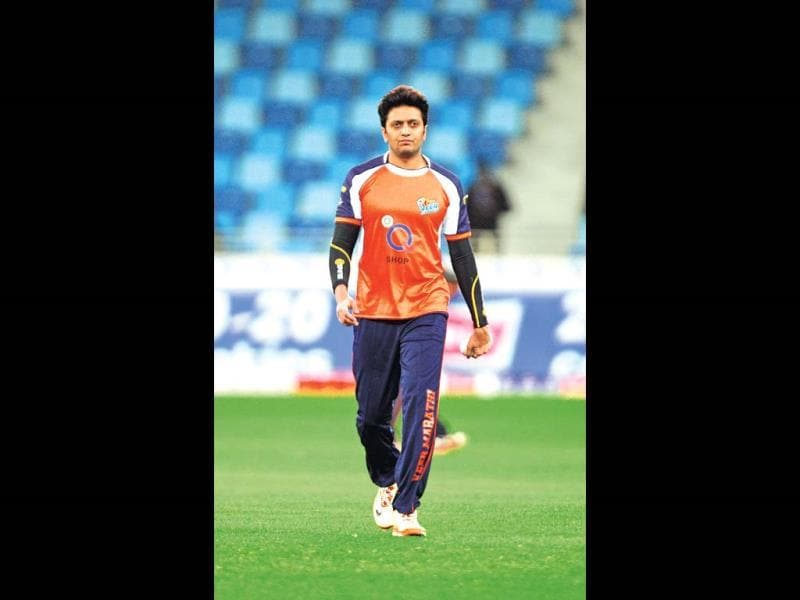 Riteish Deshmukh at CCL 2014.
