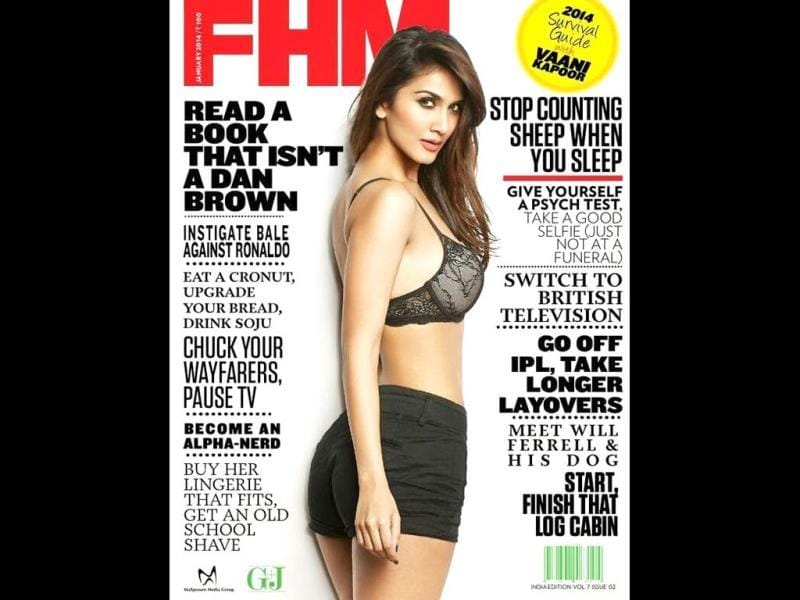One-film-old Vaani Kapoor sets the FHM cover on fire. Take Poll