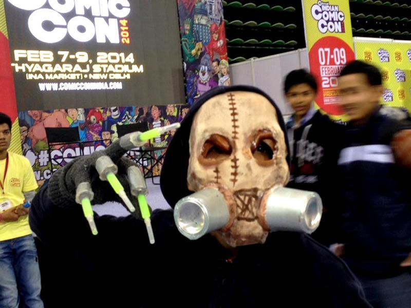 People dress up in costumes as comic characters and superheroes at the Comic Con in New Delhi. (HT Photo)