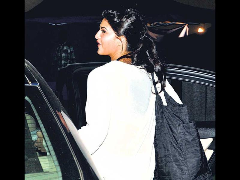 Jacqueline Fernandez refused to acknowledge the camera when spotted at a film studio in Mumbai.