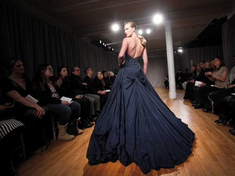 The Zac Posen Fall 2014 collection is modeled during the New York Fashion Week. (AP)