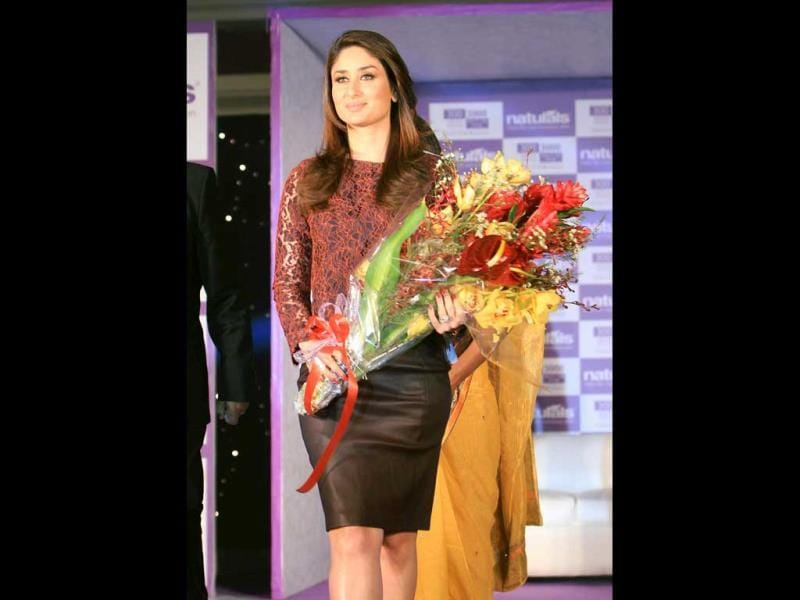 Kareena Kapoor at an event in New Delhi on Wednesday. (PTI Photo)