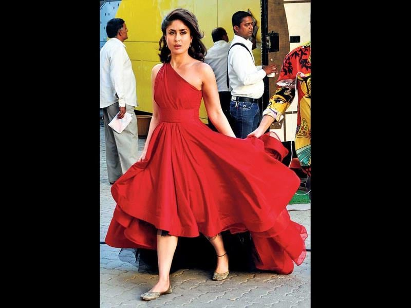 Kareena Kapoor-Khan donned this dress for a look test recently.