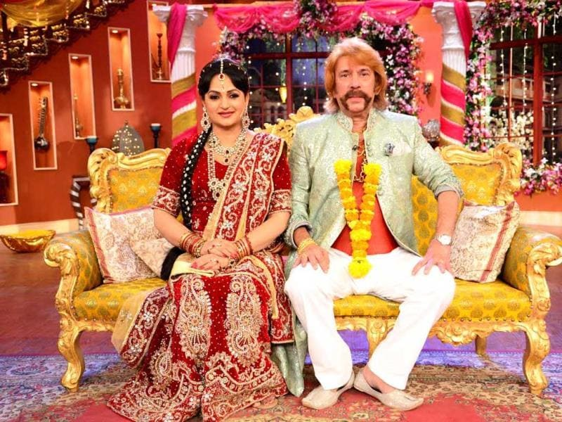 Upasana Singh and Razzak Khan during bua ki shadi on Comedy Nights with Kapil.