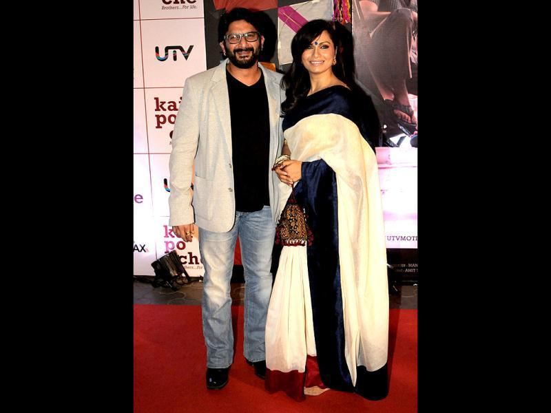 Arshad Warsi-Maria Goretti: After dating for eight years, the actor married the VJ in 1999. The couple had two wedding ceremonies - one in the church and a nikaah. Their son is named Zeke, and daughter Zene Zoe.
