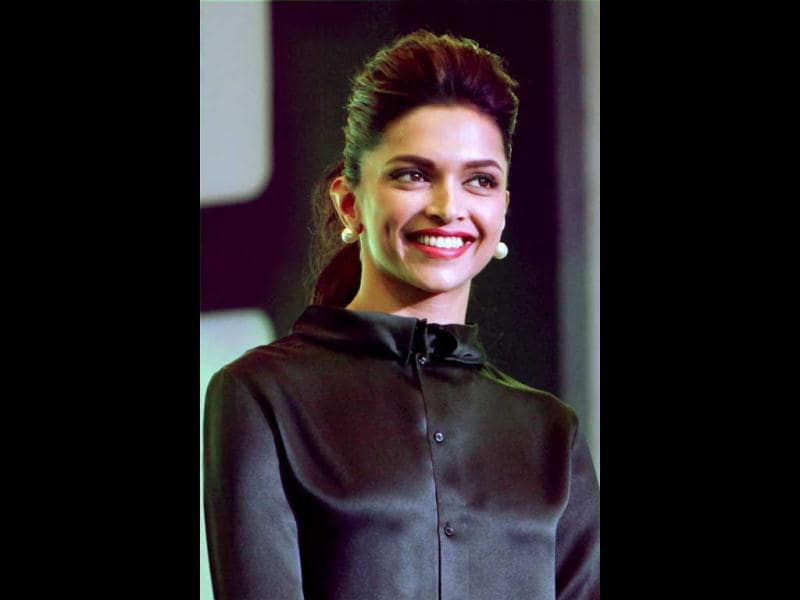 File Photo: Actor Deepika Padukone shines in black at an event. (PTI Photo)