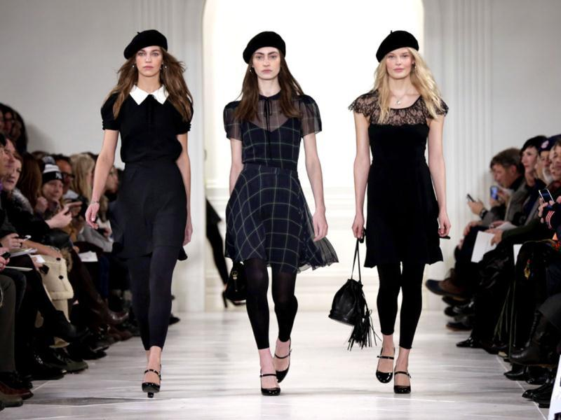The Ralph Lauren Fall 2014 collection is modeled during Fashion Week in New York. (AP)