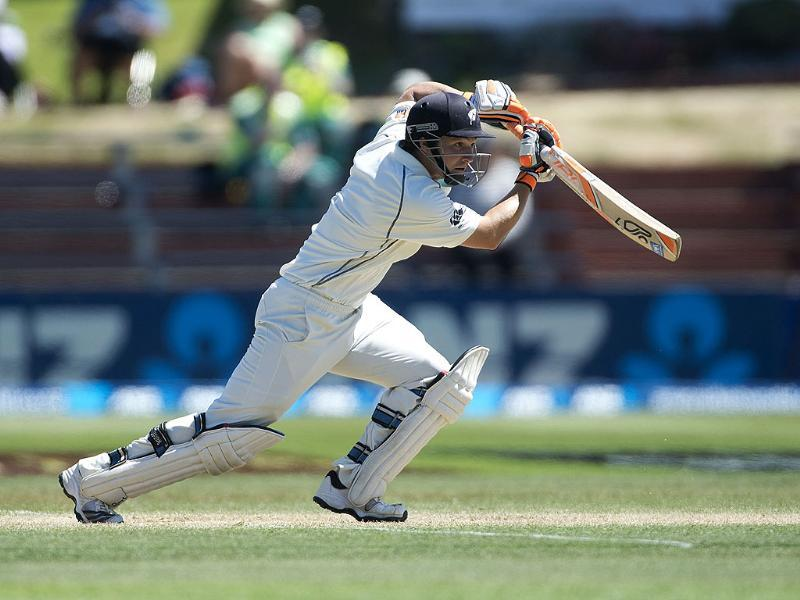 BJ Watling of New Zealand bats on Day 4 of the 2nd Test agaimst India at the Basin Reserve in Wellington. (AFP Photo)