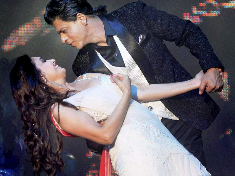 Bollywood actors Shah Rukh Khan and Madhuri Dixit Nene created romantic magic at an event in Kuala Lumpur. Take a look. (PTI Photo)