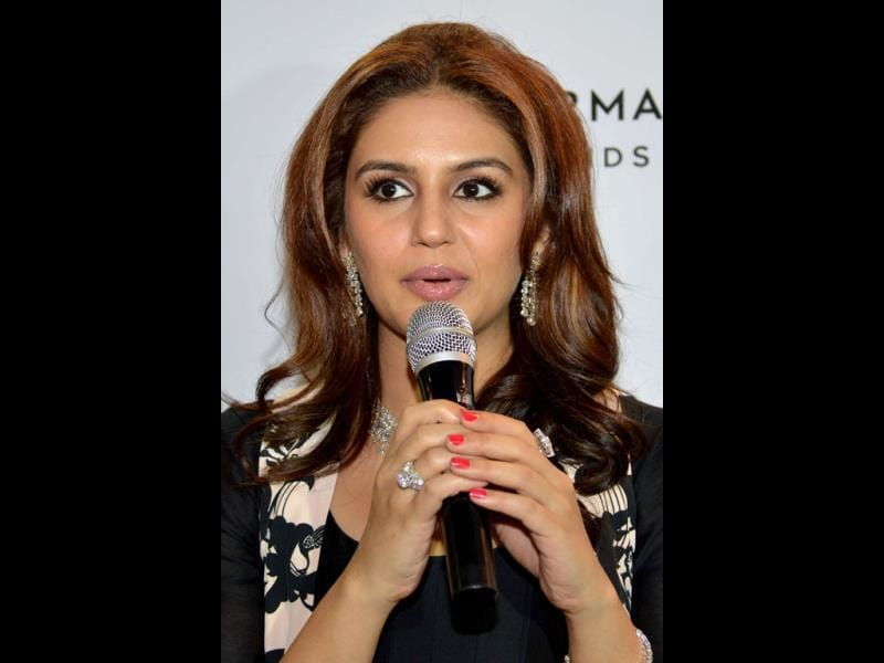 Huma Qureshi speaks at the event.
